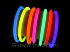 "8"" Solid Color Glow Bracelets"