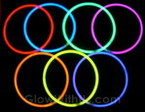 "22"" Solid Color Glow Necklaces"