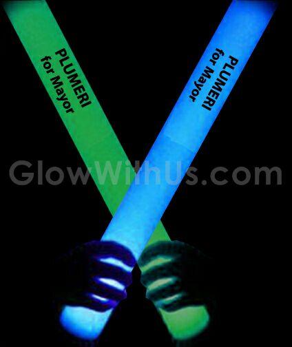 Custom led foam sticks wholesale promotional light up for Led wands wholesale