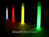 6 Inch Safety Glow Sticks w/ Stand